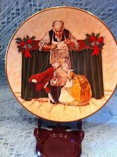 """NEW 1978 ROYAL DUBON NORMAN ROCKWELL """"PUPPETS FOR CHRISTMAS"""" PLATE"""