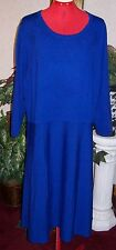 NEW TALBOTS  $169 ROYAL BLUE MERINO WOOL KNIT  DRESS  SIZE   3X