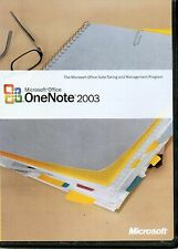 Microsoft Office OneNote 2003 Full Retail Version