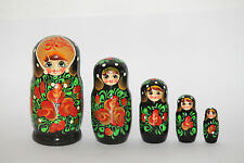Russische Matroschka Holzpuppe Babushka 5-teilig 18 cm zur Auswahl siehe Bilder