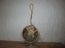 Primitive Mouse gathering - rusty strainer - 19