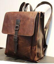 New Retro Men's PU Leather Backpack Shoulder Messenger Bags Briefcase Laptop bag