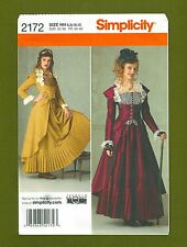 NEW! Simplicity Pattern 2172~Victorian Steampunk Cosplay/Costume (Sizes 6-12)