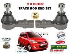 FOR HYUNDAI I10 1.1 1.2 2008-2013 NEW 2 X OUTER STEERING TRACK ROD END SET