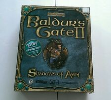 Baldur's Gate II 2 Shadows of Amn Big Box PC Windows CD-ROM COMPLETE 2000