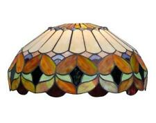 Stained Glass Tiffany Style Large Glass Lamp Shade Floral Ornate Vintage Style