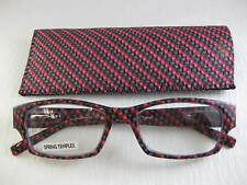 MATRIX SERIES Red & Black Spring Temple Reading Glasses with Soft Case +1.25
