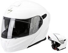 CASCO MOTO MODULARE APRIBILE SCORPION EXO 920 SOLID BIANCO LICIDO WHITE TG M