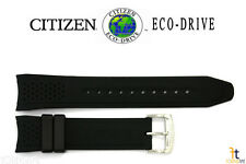 Citizen Eco-Drive S082781 Original 22mm Black Rubber Watch Band Strap S082790