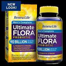 Renew Life Ultimate Flora Men's Complete 90 Billion 30 vcaps - FREE FAST SHIP
