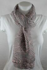 Echarpe, chèche, foulard, étole, rose pastel et gris