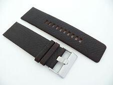 Herren Uhren armband Echtleder 28 mm Dunkelbraun für DIESEL DZ71.. usw.