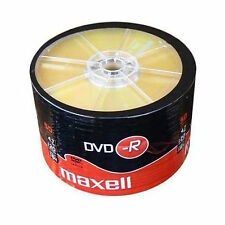 50 maxell dvd-r 1-16X 4.7 go 16x max matt gold top blanc disques, shrink wrap