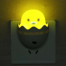 Yellow Duck LED Night Light 220V AC Plug In Saving Children Nursery Baby Safety