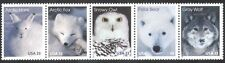 USA 1999 Owl/Bear/Fox/Wolf/Hare/Arctic Animals/Nature/Wildlife 5v stp (n39047)