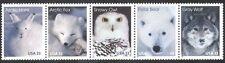 EE. UU. 1999 Búho/Oso/Zorro/Wolf/Liebre/animales del Ártico/Naturaleza/vida salvaje el STP 5v (n39047)