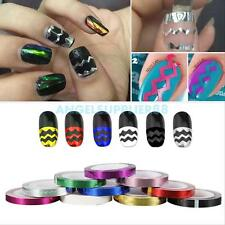 10Pcs Mixed Colors Rolls Striping Tape Line DIY Nail Decoration Sticker Fine
