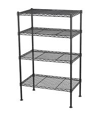 4 Tier Wire Shelving Rack Metal Shelf Adjustable Unit Garage Kitchen Storage New
