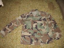 "Field Jacket CAMO MED U.S. Army Woodland Camouflage Coat 48"" chest SZ.Lrg"