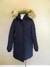 J Crew $450 Nordic Fur Parka Winter Coat Navy XS hooded e3977 blue