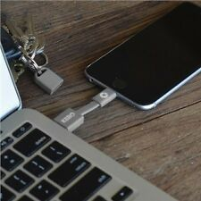 "Kero Nomad 3"" Portable Lightning - USB Keyring Cable iPhone GREY Apple Certified"