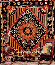 Queen Size Throw Indian Tapestry Hippy Mandala Bohemian Wall Hanging Decor -Bed