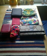 SEVEN ASSORTED CHANGE PURSE, WALLET AND BAGS