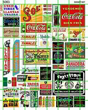 5063 DAVE'S DECALS MODERN MEXICAN BORDER BUSINESS SIGNS FOOD DRINK SERVICES