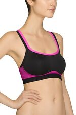 JOSIE AMP'D SPORTS CAMI HIGH IMPACT BRA #839170 PINK BLACK SIZE 32 B / C NEW $50
