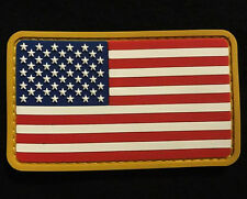 USA US FLAG RUBBER PVC TACTICAL ISAF ARMY MORALE MILSPEC FULL COLOR PATCH VELCRO