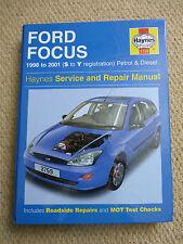 FORD FOCUS HAYNES MANUAL1998 to  2001 S to Y REG PETROL & DIESEL