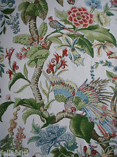 "SCHUMACHER CURTAIN FABRIC DESIGN ""Cranley Garden"" 4 METRES DOCUMENT"