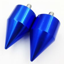 XH Kawasaki ZX 750 900 650R 7R 9R Z1000 10R ZX11 ZZR1200 ZX14 BLUE Spike Bar End