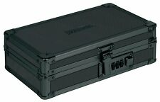 Vaultz Locking Utility Box with Combination Lock, Black on Black (VZ00192), New