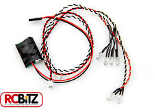 Axial Simple LED Controller 4 WHITE 2 RED Lights Simple 1 Plug connect no solder