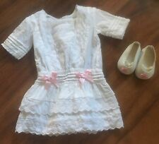 American Girl Doll Rebecca White Lace Dress Outfit Set RETIRED HTF