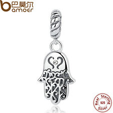 Bamoer S925 Sterling Silver Charms Palm Pendant Fit Bracelets Jewelry hot