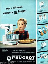 PUBLICITE ADVERTISING 026  1963  Peugeot  le robot éléctrique éléctroménager