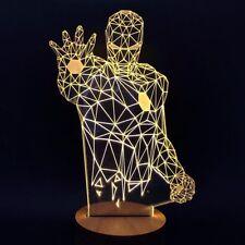 IRON MAN Novelty Unique 3D Illusion Bulb Lamp LED Night Light USB Table Lamps