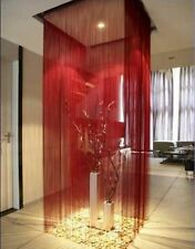 WINE RED String Curtain for Doors Patio Windows Dividers  Size 300cm x 300cm