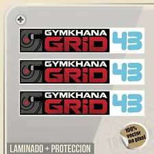 PEGATINA GYMKHANA GRIP 43 KEN BLOCK DECAL VINILO VINYL STICKER DECAL ADESIVI
