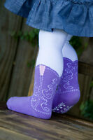 LAVENDER BOOTZIES!! COWBOY BOOT TIGHTS  FOR YOUR LITTLE COWGIRL!! SIZE 6-18 MOS