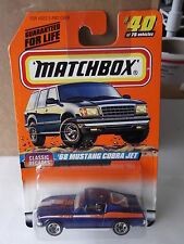 "MATCHBOX CLASSIC DECADES #40 ""68 MUSTANG COBRA JET"" SERIES 5     NIP"