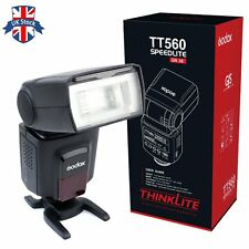 UK Godox TT560 GN38 Universal Speedlite Flash Light for Canon Nikon Sony DSLR