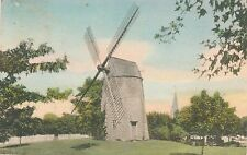 EAST HAMPTON NY–Hand Colored Postcard of The Old North End Windmill–Long Island