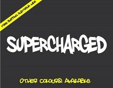 SUPERCHARGED Sticker Decal JDM Drift Car Turbo Hoon Ute