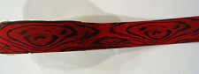 NEW LION RED & BLACK CATS EYE RIBBON FLORAL WREATH 1 3/8 x 25 YD