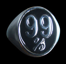 Stainless 99% Occupy Wall Street Protest Ring Custom Size Black Enamel R-126ss