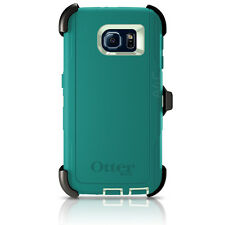 OtterBox Defender Galaxy S6 Case/Holster Cool Melon Green Teal Certified Refurrb