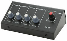 QTX 4 Channel Microphone DJ PA Mixer with Jack Inputs Sound PA Audio Studio